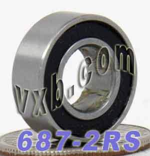 687-2RS Bearing 7x14x5 Sealed:vxb:Ball Bearing