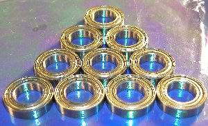 10 Bearing 8x16 Shielded 8x16x6:vxb:Ball Bearing
