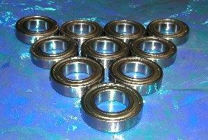 10 Bearing 6901ZZ 12x24x6 Shielded:vxb:Ball Bearings