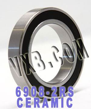 6908-2RS Bearing Hybrid Ceramic Sealed 40x62x12:vxb:Ball Bearing
