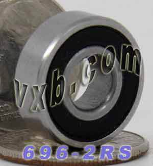 696-2RS Bearing 6x15x5 Sealed:vxb:Ball Bearing