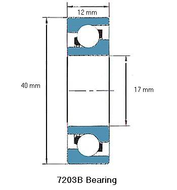 7203B Bearing Drawing