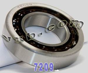 7209B Single Row Angular Contact 45mm x 85mm x 19mm:vxb:Ball Bearing