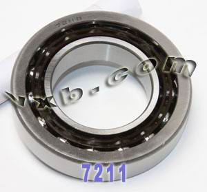 7211B Single Row Angular Contact 55mm x 100mm x 21mm:vxb:Ball Bearing