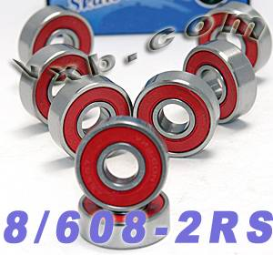 8 Skateboard Bearing Set:Sealed:vxb:Ball Bearings