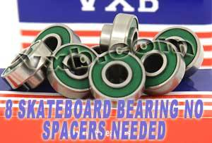 608RS Extended Skateboard Bearings 8x22x7:vxb:Ball Bearing