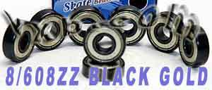 8-608zz-black:vxb:Ball Bearing