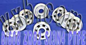 8 Full Ceramic Skate Bearing 608 8x22x7:vxb:Ball Bearings