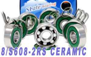 8 Skateboard Bearings:Ceramic:Sealed:vxb:Ball Bearing