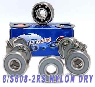 8 Stainless Steel Skateboard Bearing Kit:Sealed:vxb:Ball Bearing