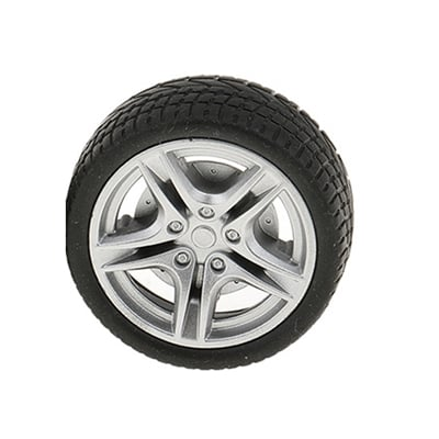 48mm Rubber Wheel Tires for Toy Cars-Pack of 2