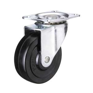 "3"" Inch Caster Wheel 66 pounds Swivel Polyvinyl Chloride Top Plate"