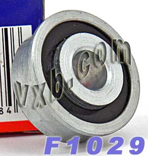 "F1029 Unground Flanged 1/4"" bore:Full Complement:vxb:Ball Bearing"