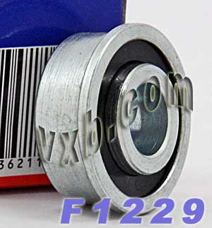 "F1229 Unground Flanged 1/4"" bore:Full Complement:vxb:Ball Bearing"