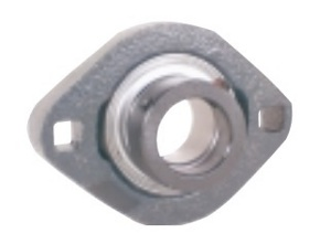 FHFLCTQ204-20mm Flange Ductile Flush 2 Bolt Unit:20mm inner diameter: Ball Bearing