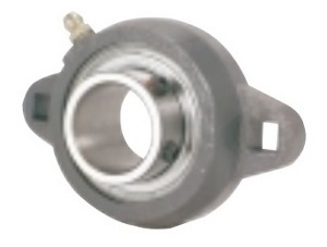 FHFX203-17mm Flange Ductile 2 Bolt Unit:17mm inner diameter: Ball Bearing