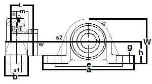 "FHLP209-26G Pillow Block Low Shaft Height:1 5/8"" inner diameter:PEER Ball Bearing"