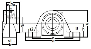 "FHP211-35 Pillow Block Standard Shaft Height:2 3/16"" inner diameter:PEER Ball Bearing"