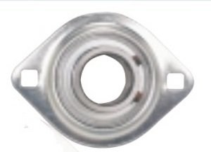 "FHPFLZ207-21 Flange Pressed Steel 2 Bolt Unit:1 5/16"" Inch inner diameter: Ball Bearing"