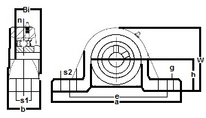 "FHSLP205-14 Pillow Block Low Shaft Height:7/8"" inner diameter:PEER Ball Bearing"