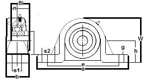 "FHSP201-8 Pillow Block Standard Shaft Height:1/2"" inner diameter:PEER Ball Bearing"