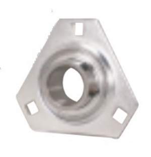 FHSPFTZ201-12mm Flange Pressed Steel 3 Bolt Triangle Ball Bearing:12mm inner diameter: Ball Bearing