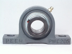 "FHSPW207-20G Pillow Block Cast Iron Light Duty:1 1/4"" inner diameter:PEER Ball Bearing"