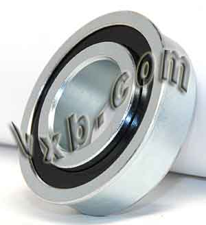 "F0824 Unground Flanged 1/4"" bore:Full Complement:vxb:Ball Bearing"