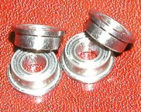 "4 SLOT CAR Flanged Bearing 3/32""x3/16"" Ceramic:Stainless:Shielded:vxb:Ball Bearing"