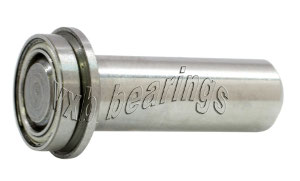"1/4"" Inch Flanged Ball Bearing with integrated Axle:1/4""x1/2""x7/8"":VXB Ball Bearing"