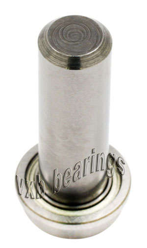 "1/4"" Inch Flanged Ball Bearing with integrated Axle:1/4""x1/2""x9/16"":VXB Ball Bearing"