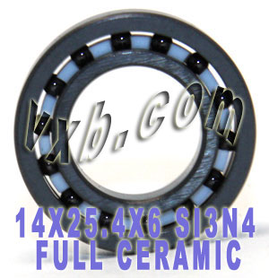 14x25.4x6 Full Ceramic Bearing Silicon Nitride:vxb:Ball Bearing