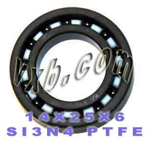 14x25x6 Full Ceramic Bearing Silicon Nitride:vxb:Ball Bearing