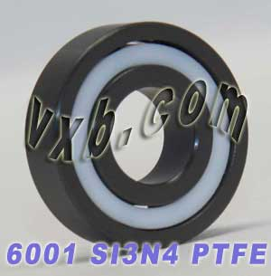 Full Ceramic 6001 Bearing 12x28x8 Silicon Nitride:vxb:Ball Bearing