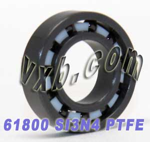 61800 Full Ceramic Bearing 10x19x5 Si3N4/PTFE:vxb:Ball Bearings