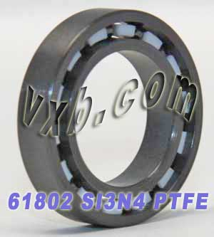 61802 Full Ceramic Bearing 15x24x5 Si3N4/PTFE:vxb:Ball Bearings