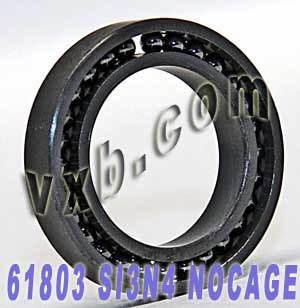 61803 Full Complement Ceramic Bearing 17x26x5 Si3N4:vxb:Ball Bearing