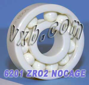 6201 Full Complement Ceramic Bearing 12x32x10:vxb:Ball Bearing