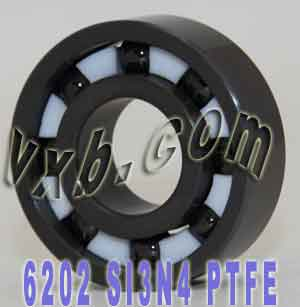 6202 Full Ceramic Bearing 15x35x11 Si3N4/PTFE:vxb:Ball Bearing