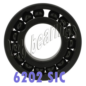 6202 Full Complement Ceramic Silicon Carbide Bearing 15x35x11:vxb:Ball Bearing