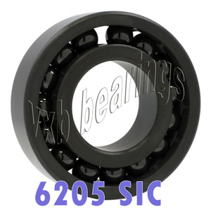 6205 Full Complement Ceramic Silicon Carbide Bearing 25x52x15:vxb:Ball Bearing