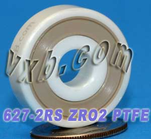 627-2RS Full Ceramic Sealed Bearing 7x22x7 ZrO2:vxb:Ball Bearing