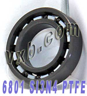6801 Full Ceramic Bearing 12x21x5 Si3N4/PTFE:vxb:Ball Bearing