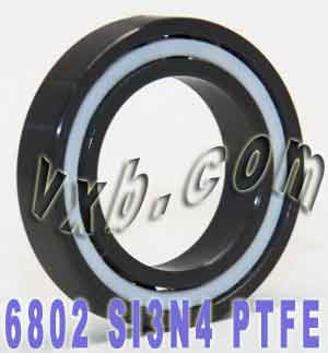 6802 Full Ceramic Bearing 15x24x5 Si3N4/PTFE:vxb:Ball Bearing