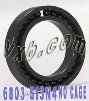 6803 Full Complement Ceramic Bearing 17x26x5 Si3N4:vxb:Ball Bearing