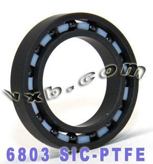 6803 Full Ceramic Bearing 17x26x5 Silicon Carbide:vxb:Ball Bearings