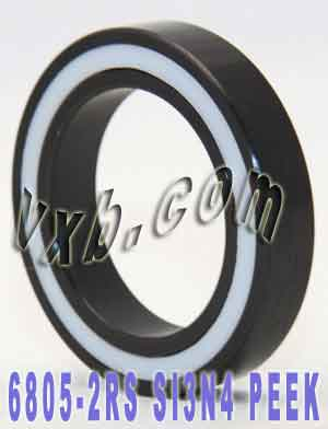 6805-2RS Full Ceramic Sealed Bearing 25x37x7 Si3N4:vxb:Ball Bearing
