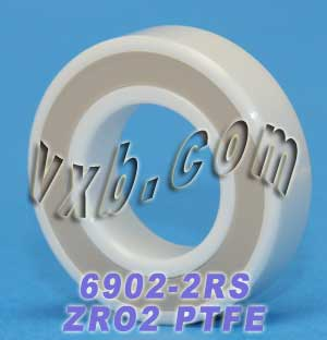 6902-2RS Full Ceramic Sealed Bearing 15x28x7 ZrO2:vxb:Ball Bearing