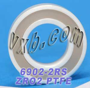 6902-2RS Full Ceramic Sealed Bearing 15x28x7 ZrO2:vxb:Ball Bearings