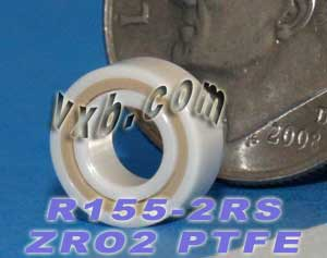 "R155-2RS Full Ceramic Bearing 5/32""x5/16""x1/8"":vxb:Ball Bearing"